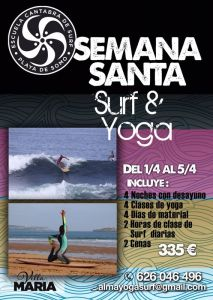 1 er Surf&yoga camp 2015 en playa de somo.